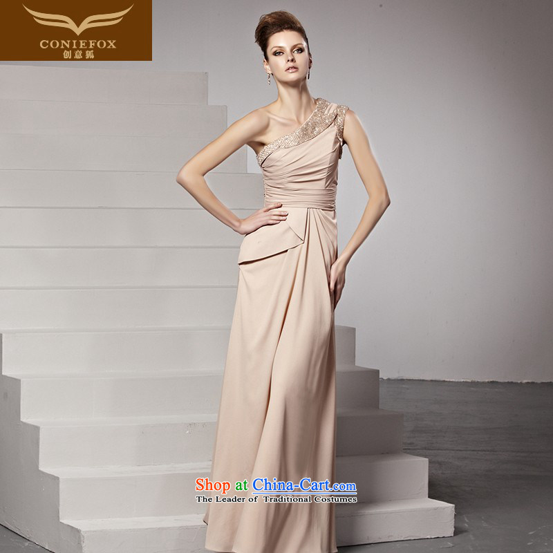 Creative Fox evening dresses banquet Sau San long temperament evening dress fell onto the ground exhibition dress long skirt evening dress under the auspices of the Annual Services 81515 color photo of bows�XL