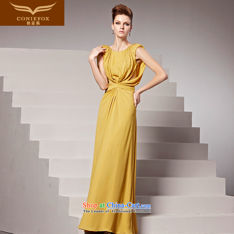 The kitsune dress creative new banquet long gown will first field header dresses yellow to dress bridesmaid dress uniform color pictures show 81536�L