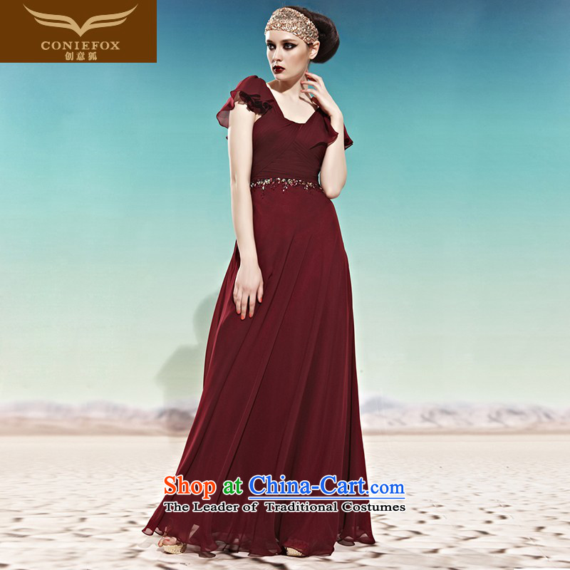 Creative Fox evening dress western banquet evening dresses long skirt graceful evening dress annual meeting under the auspices of dress stage performances?56998?color pictures to?M