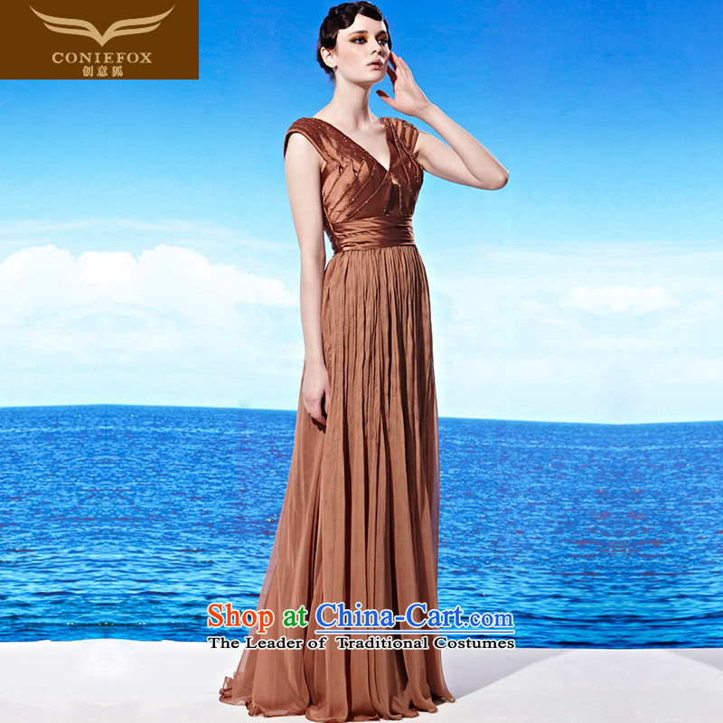 Creative Fox evening dresses?2015 new autumn and winter evening dress trendy new Banquet No. Western bows services under the auspices of evening dresses annual 58013 picture color?S