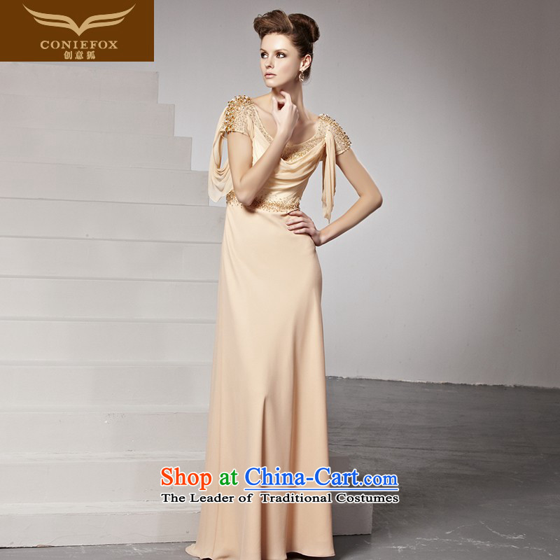 The kitsune dress creative new marriage bows to dress brides fall arrester Fashionable dresses in long under the auspices of the annual meeting banquet dress long skirt 81613 picture color�XXL
