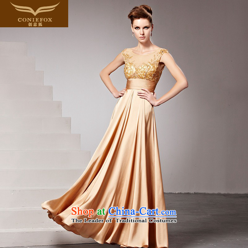 The kitsune dress creative new stylish wedding dress diamond banquet evening dresses and dresses long dresses Sau San long skirt 81616 picture color?L