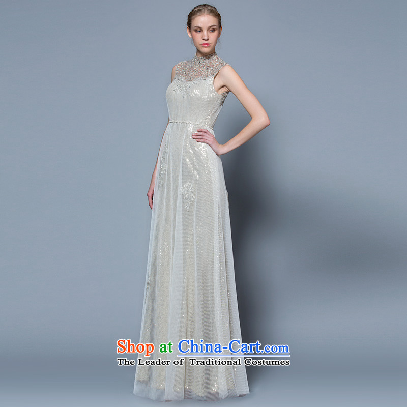 A lifetime of wedding dresses 2015 new engraving lace package shoulder evening dresses Silver Silver?155/82A 30240909 30 days of pre-sale