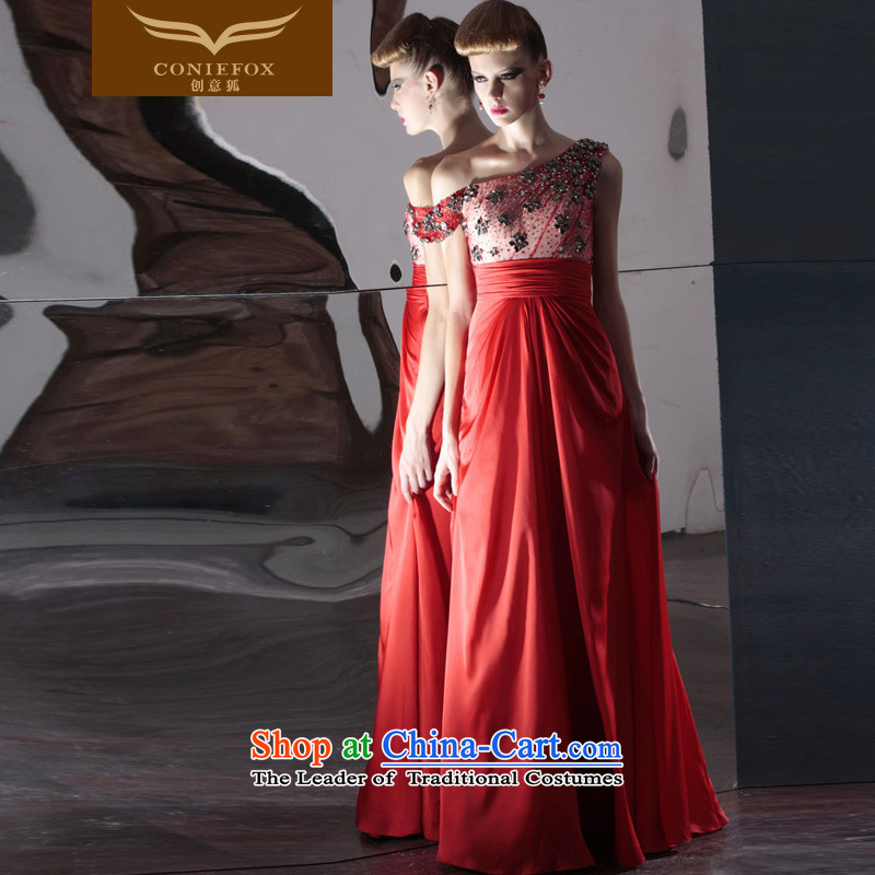 Creative Fox evening dresses red bride wedding dress irrepressible wedding photography dress bows service banquet evening dress will preside over 80986 Red聽Fox (coniefox S creative) , , , shopping on the Internet
