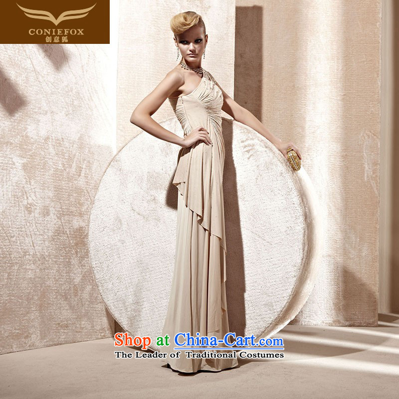 Creative Fox evening dress stylish evening dress of Sau San bridesmaid dress banquet services under the auspices of the annual bows dress noble dress dresses 80995 color?L
