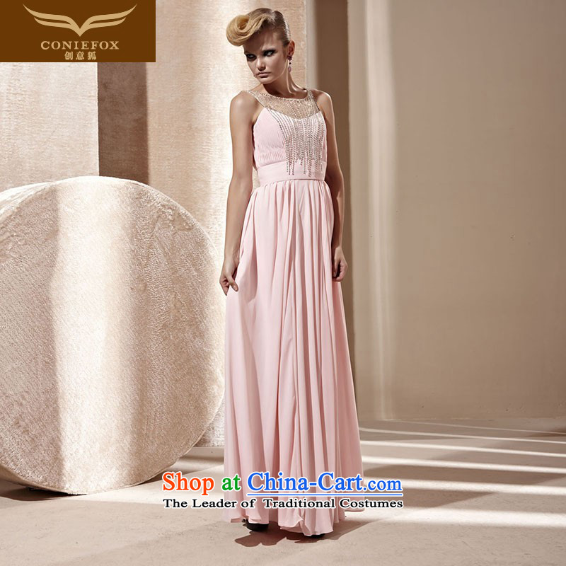 Creative Fox evening dresses�2015 new pink dresses elegant long Sau San dresses evening banquet hosted the annual dress suit 80822 pink�XXL
