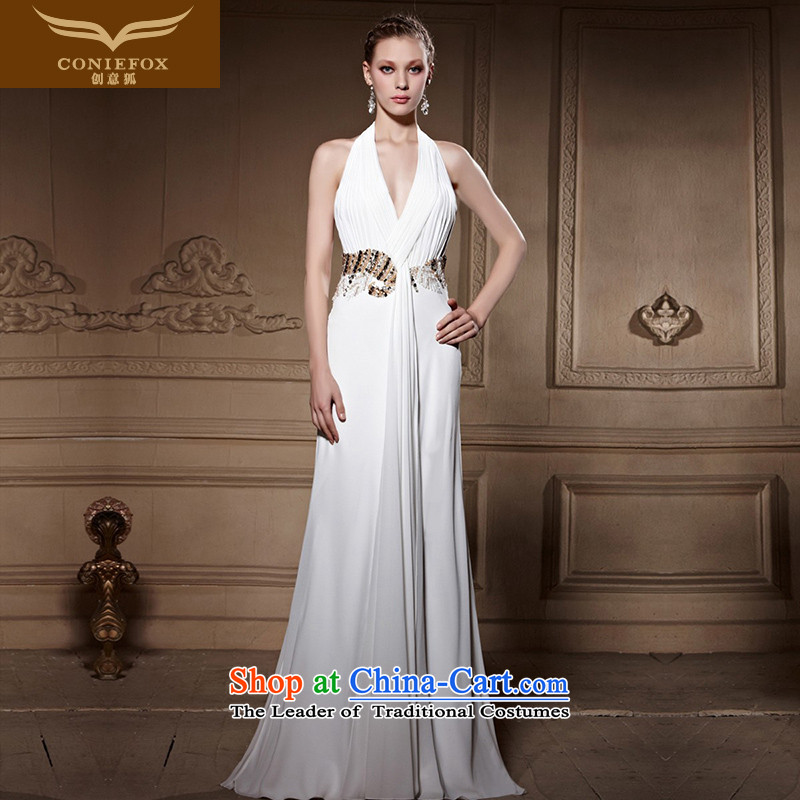 The kitsune high-end Custom Creative evening dress elegant long sexy white wall also dress wedding dress female annual dress dresses 81668 color picture�S