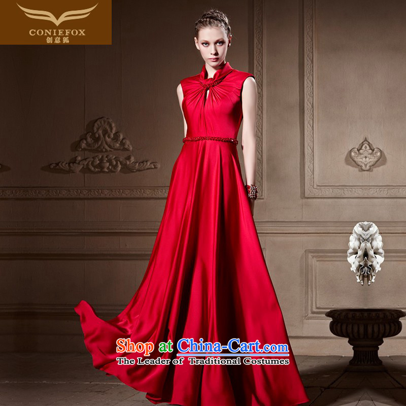 Creative Fox evening dresses and noble wedding dress red dress uniform bows elegant long gown Annual Meeting and preside over evening dress photo color L UNCITRAL embarked upon