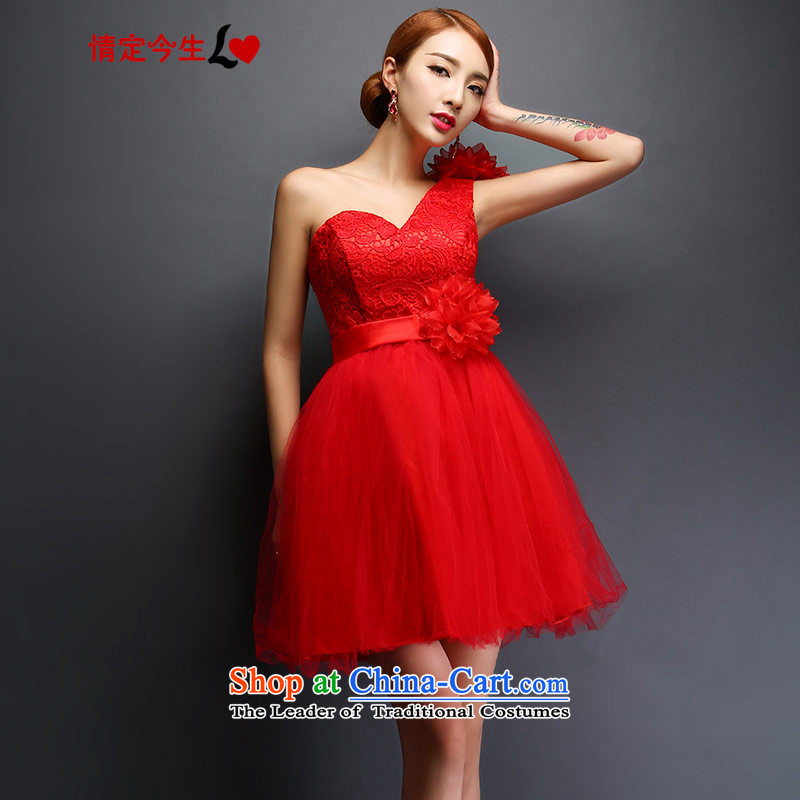 Love of the overcharged by 2015 new marriage bows wedding dress wedding evening dress short, single women shoulder accessories package?XXXL