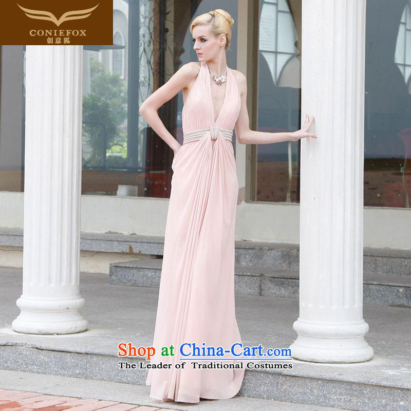 The kitsune evening dresses brides Creative wedding dress long pink bridesmaid services annual meeting of persons chairing the Female dress skirt bows dress uniform dresses?80832?pink?XXL