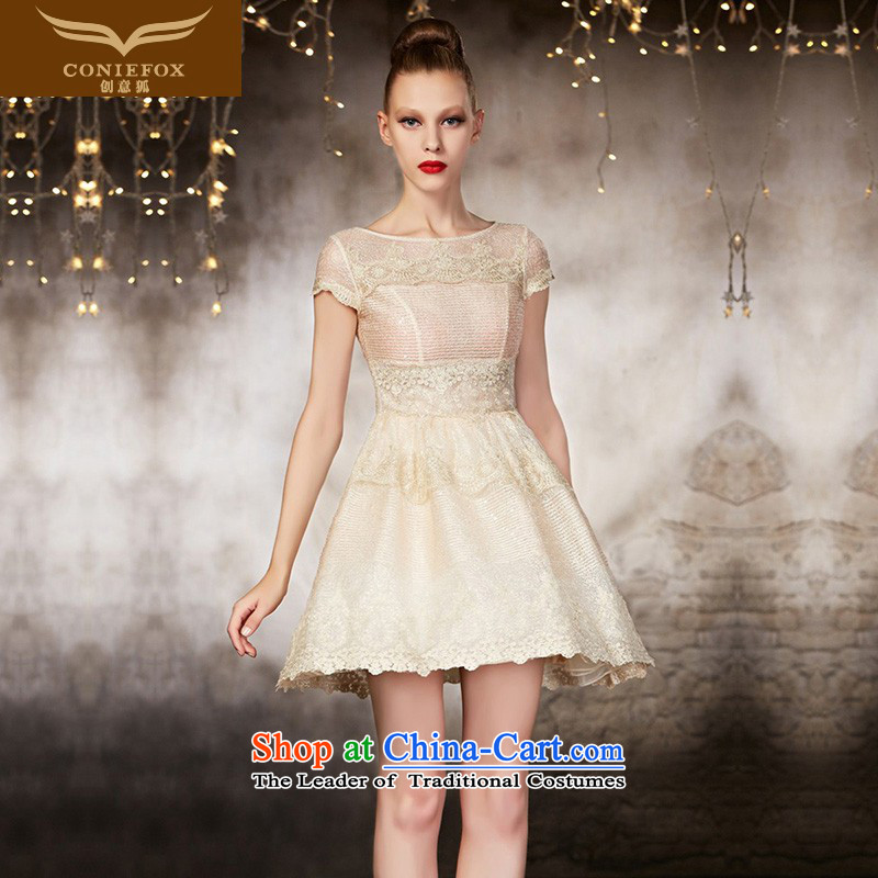 Creative Fox evening dresses tailored Dress Short of small dresses banquet bridesmaid dress skirt the wedding-dress stylish short skirts 82051 picture color tailored