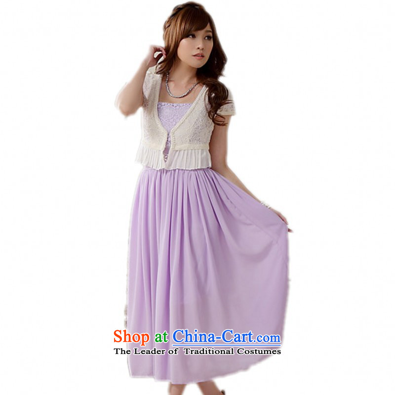 C.o.d. Package Mail xl new Korean sweet bridesmaid wedding dress shoulders Lace up the Pearl River Delta chiffon long skirt gown annual dress skirt short-sleeved purple are approximately 90-120 burden code