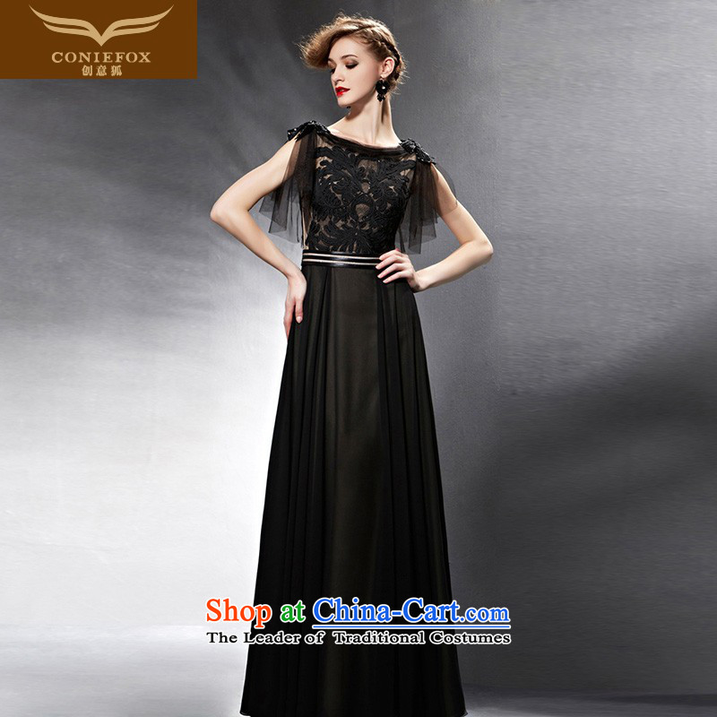 Creative Fox evening dresses聽2015 New Sau San long evening dresses and evening banquet service evening dress black bows 30590 color pictures under the auspices of dress聽M