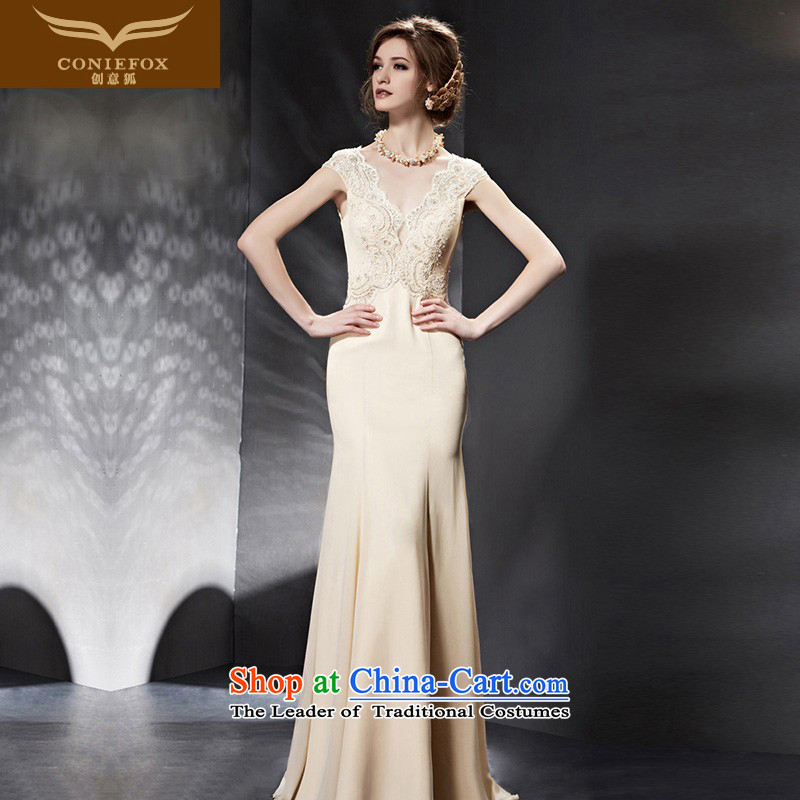 Creative Fox evening dresses?2015 new wedding dresses long bridesmaid dresses Sau San marriages bows service banquet evening dress 30659 color picture?S