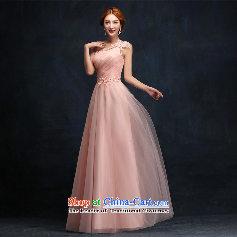 According to Lin Sha wedding dresses 2015 new pink long betrothal evening dresses bows Service Bridal Fashion moderator evening dresses XL