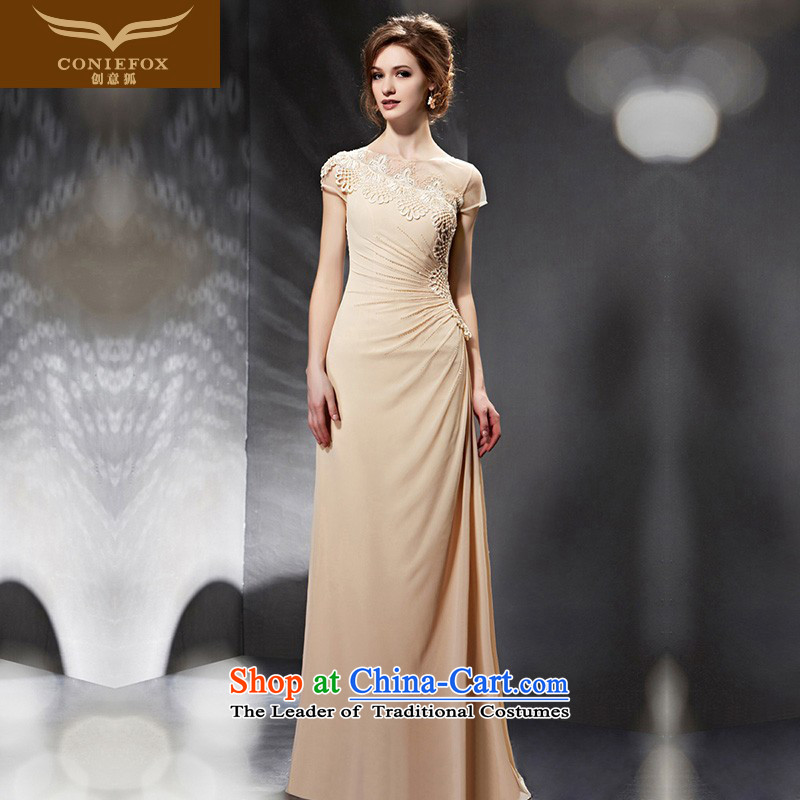 Creative Fox evening dresses?2015 New Sau San long bridesmaid dress long skirt wedding dress bride bows service banquet evening dress skirt 30681 color picture?M