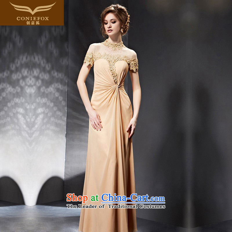 Creative Fox evening dresses�2015 new evening dresses long bridesmaid dress banquet bows evening dresses services Sau San under the auspices of the annual session of 30688 picture color�S dress