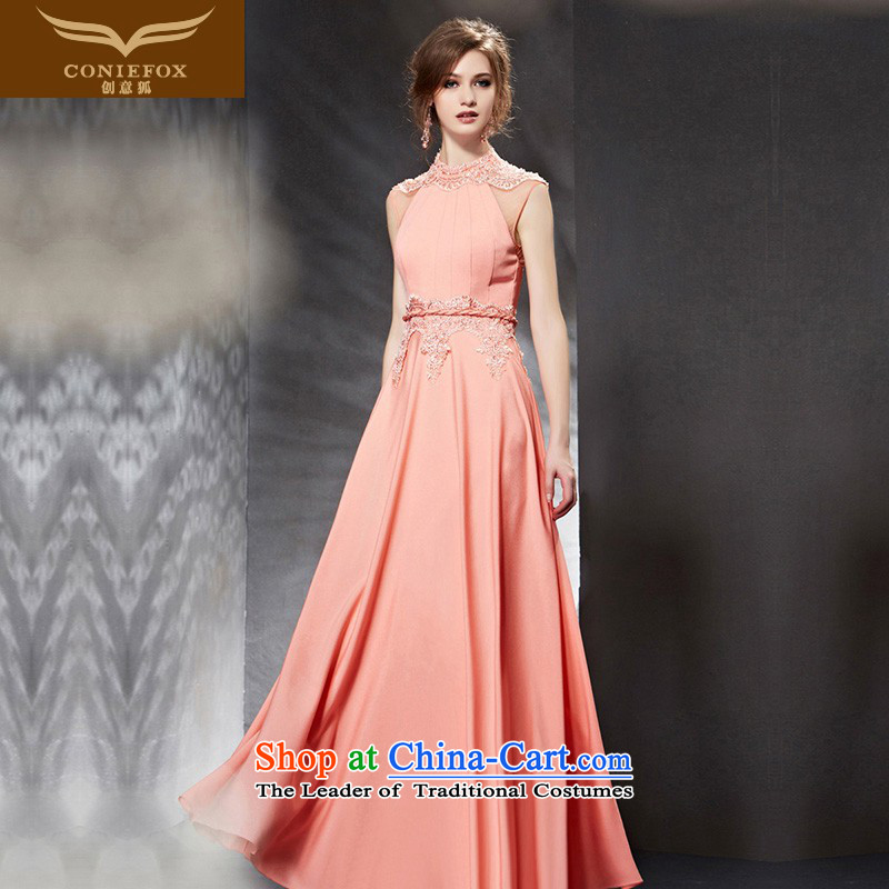 Creative Fox evening dresses?2015 new dresses long pink dresses toasting champagne bridesmaid Sau San service banquet hosted the annual dress suit 30,800 pictures color?XXL
