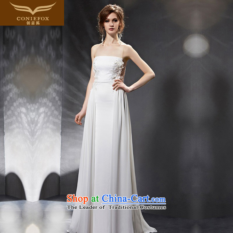 Creative Fox evening dresses�2015 new anointed chest bridesmaid dress bride wedding dress banquet bows service long Sau San moderator evening 30801 picture color�S