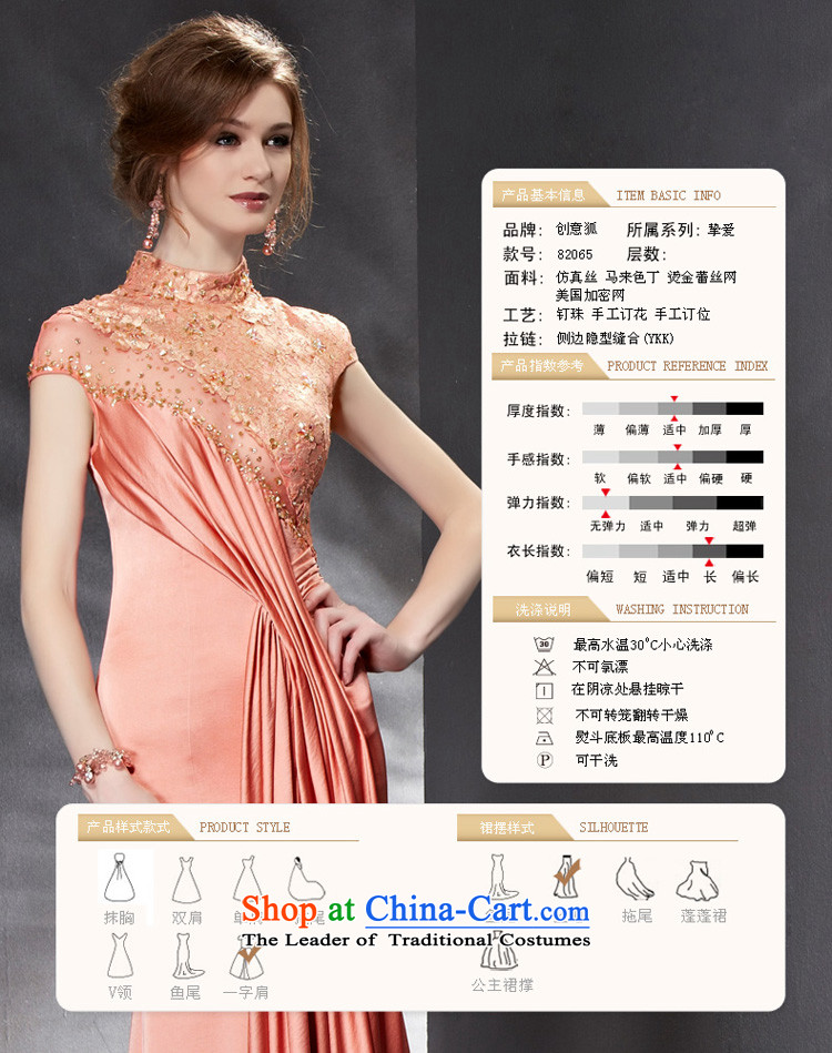 Creative Fox evening dresses 2015 new evening dresses long bridesmaid bows services Sau San banquet service evening dress skirt annual meeting presided over 82065 picture color M dress photo, prices, brand platters! The elections are supplied in the national character of distribution, so action, buy now enjoy more preferential! As soon as possible.