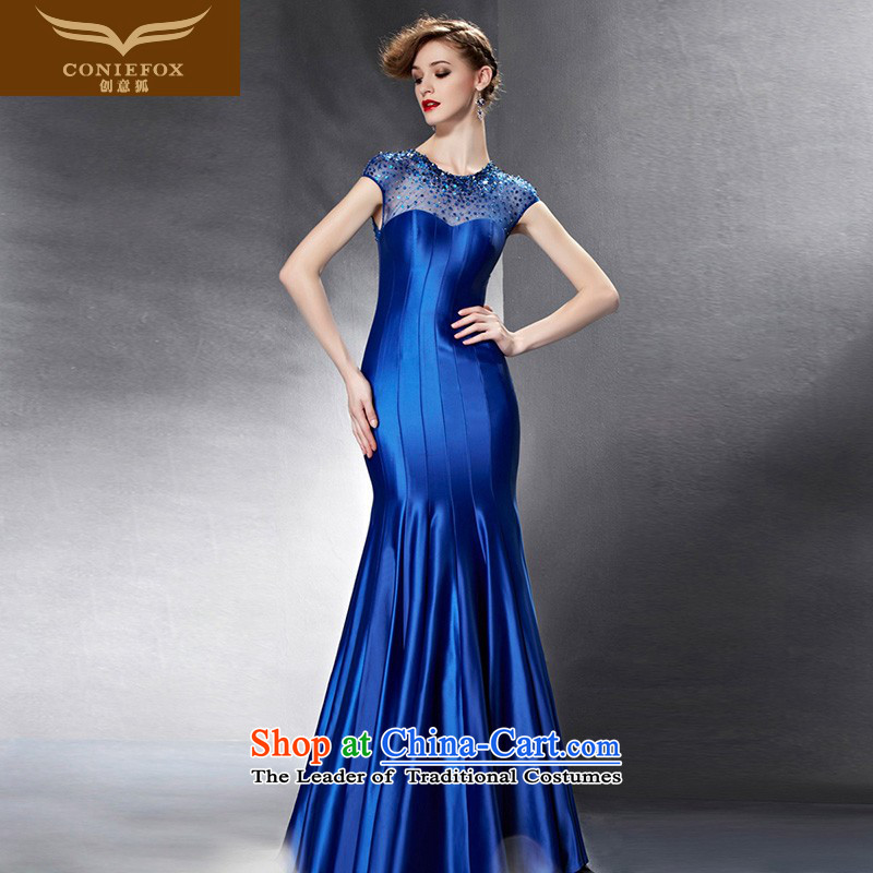 Creative Fox evening dresses�2015 new dresses evening banquet moderator dress long drink service vehicle exhibition dress model 82080 will dress photo color�S