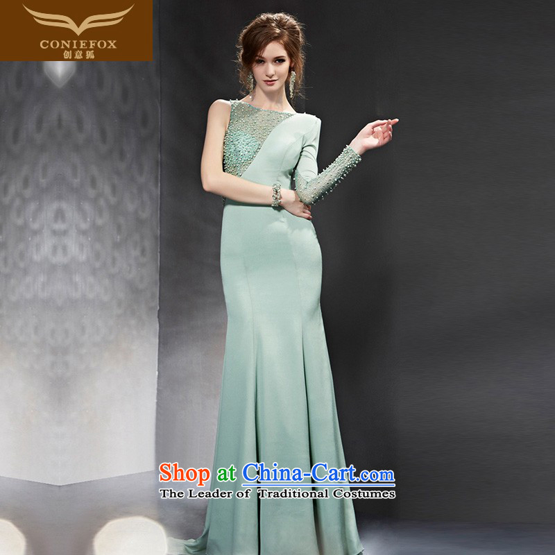 Creative Fox evening dresses�2015 new stylish long drink service banquet evening dresses Sau San long skirt annual meeting of persons chairing the 82099 will dress photo color�XXL