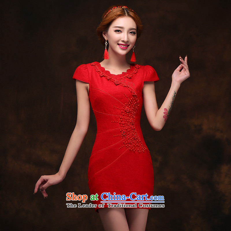 2015 new stylish qipao bride toasting champagne gross? service improvement marriage dress retro back door onto qipao�S