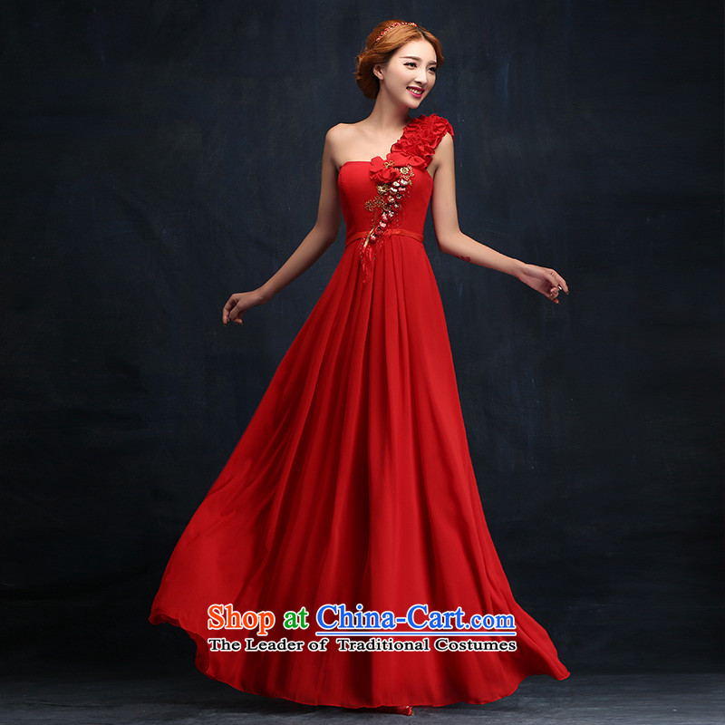The bride red bows services 2015 new long evening dresses and stylish wedding shoulder wedding winter wedding dresses�M
