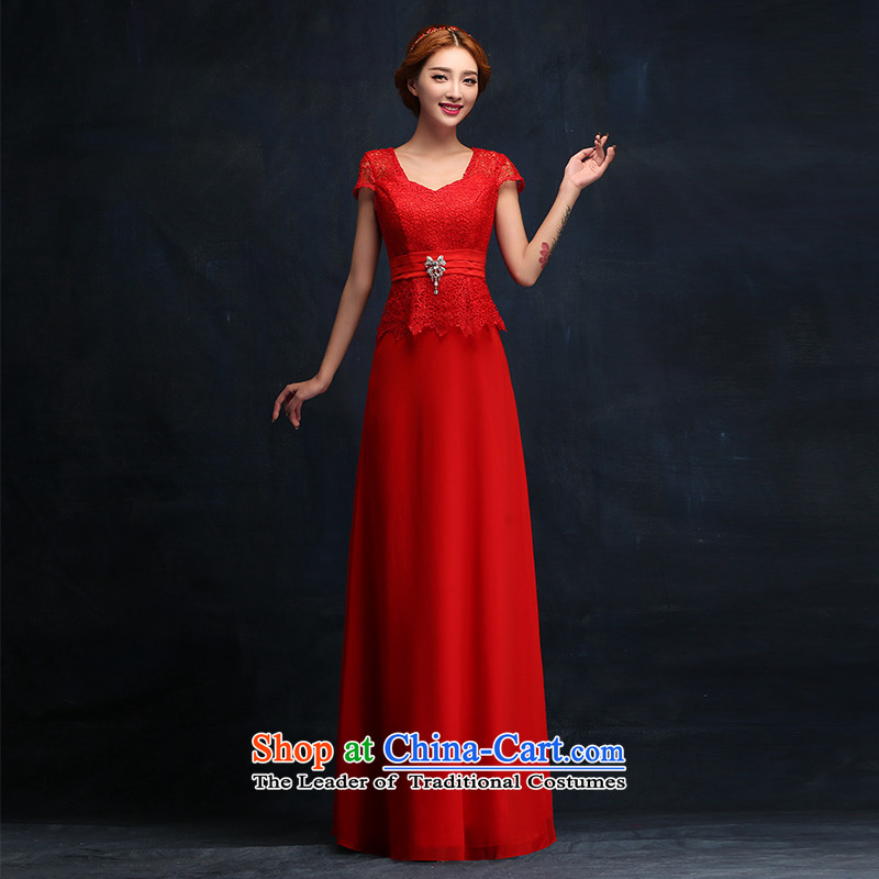 However Service Bridal Fashion 2015 Red Dress long word   crowsfoot shoulder bride wedding dress�XL