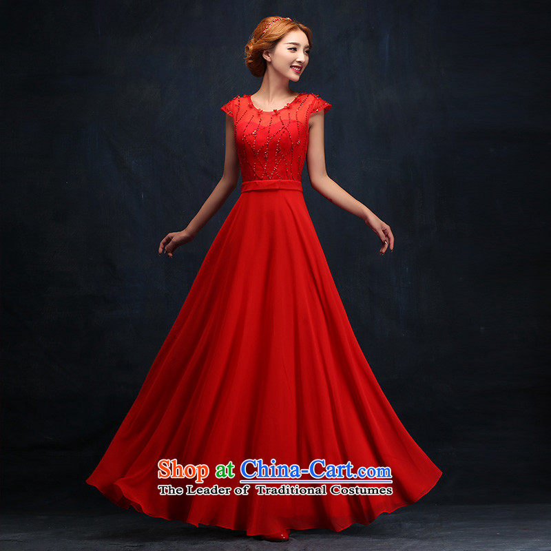 However Service Bridal Fashion 2015 new winter bridesmaid dresses marriage banquet evening dress long evening dress Sau San?M