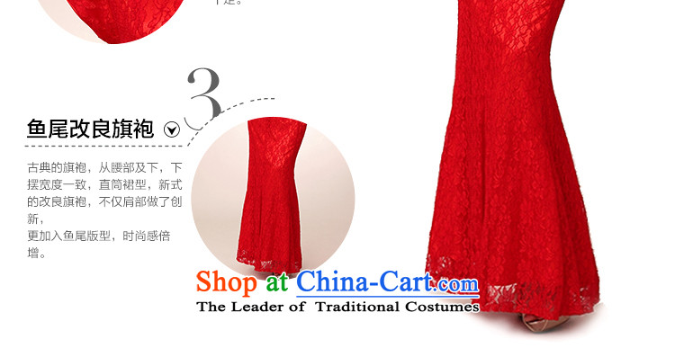 The 2015 new HIV 310001 Chinese cheongsam dress red lace long crowsfoot bride Annual Meeting at the large red bows L picture, prices, brand platters! The elections are supplied in the national character of distribution, so action, buy now enjoy more preferential! As soon as possible.