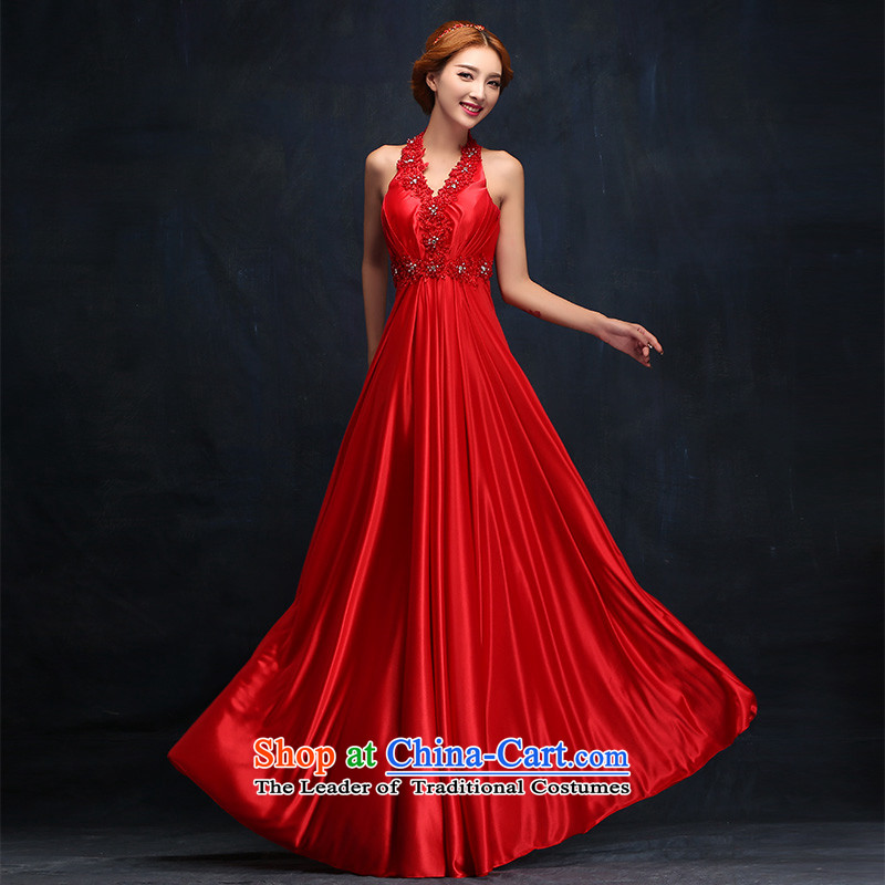 According to Lin Sha 2015 new Korean history dress Hang Long Sau San Banquet Female dress bride red bows to�M