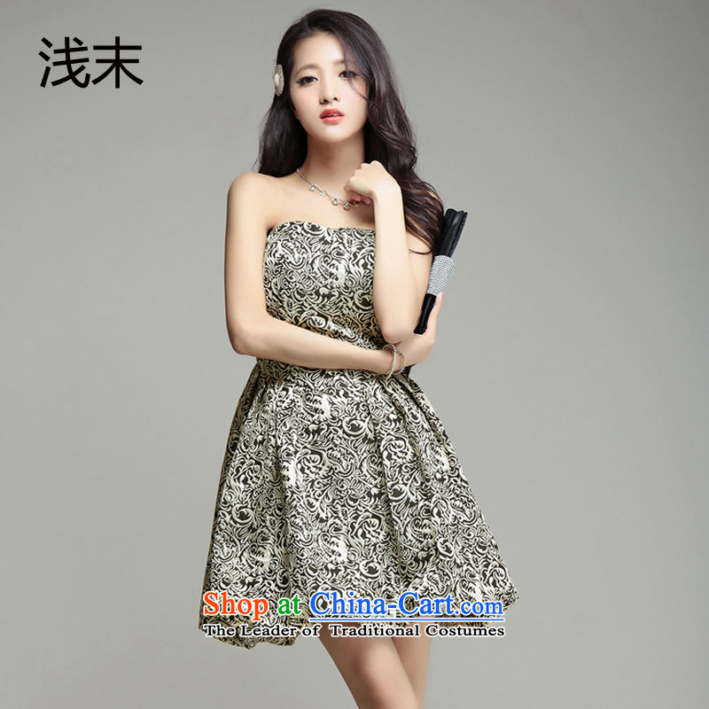 The end of the light (MO) chest anointed QIAN gold wire positioning flower lanterns petticoats small dress suit skirt dresses 3371 gold are code