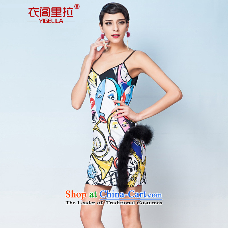 Yi Ge lire aristocratic temperament Sau San video thin straps business dinner dress dresses silhouette Stamp number L