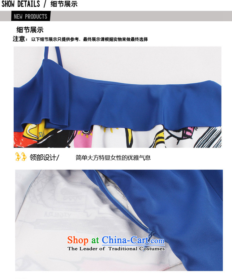 Yi Ge lire aristocratic temperament Beveled Shoulder straps Sau San video thin banquet dress dresses Blue 6602 S picture, prices, brand platters! The elections are supplied in the national character of distribution, so action, buy now enjoy more preferential! As soon as possible.