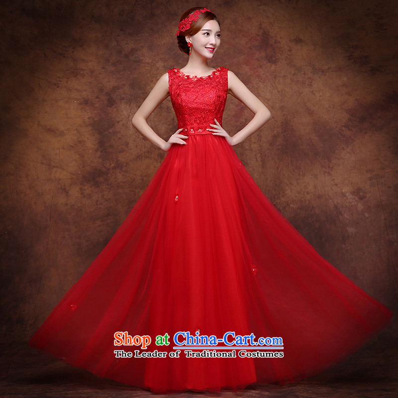 The Republika Srpska divas long autumn 2015 new bride bows to shoulder larger Fat MM pregnant women Sau San video thin marriages bows evening dresses red?XXL( stylish round-neck collar Sau San Video Thin)
