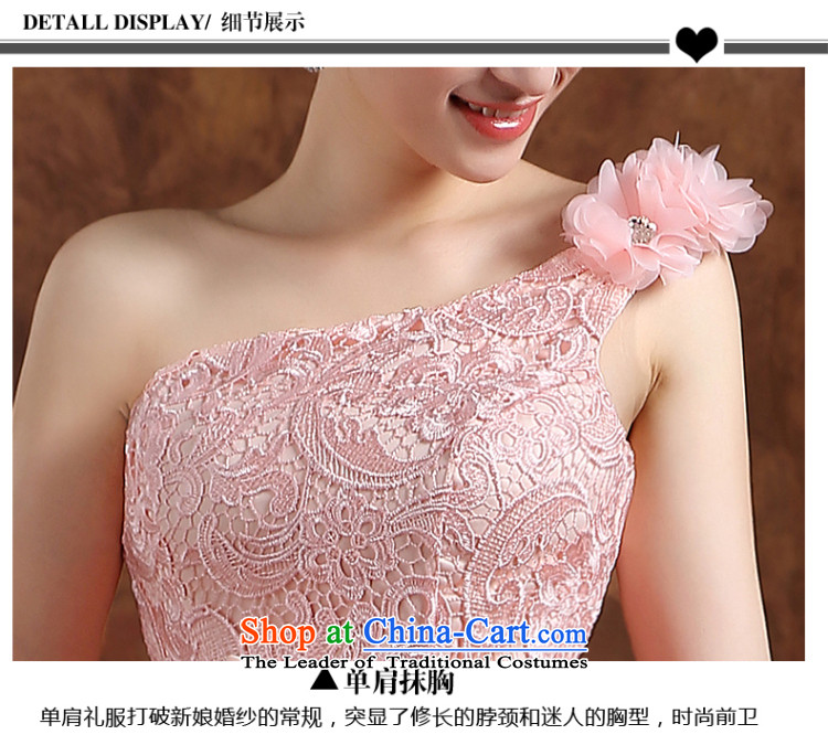 The Republika Srpska divas front stub bridesmaid service long after the summer 2015 new shoulder elegant bridesmaid services integrated with short of Sau San lace bridesmaid wedding dress pink XL( service short, bon bon skirt) Picture, prices, brand platters! The elections are supplied in the national character of distribution, so action, buy now enjoy more preferential! As soon as possible.