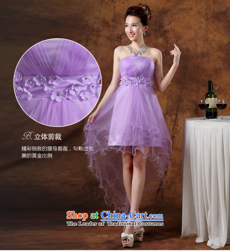 The Republika Srpska divas front stub bridesmaid service long after the summer 2015 new bride bridesmaid service wedding dress Top Loin of Sau San anointed chest sin gas purple bridesmaid serving evening dress with a light purple L to the necklace earrings) Picture, prices, brand platters! The elections are supplied in the national character of distribution, so action, buy now enjoy more preferential! As soon as possible.