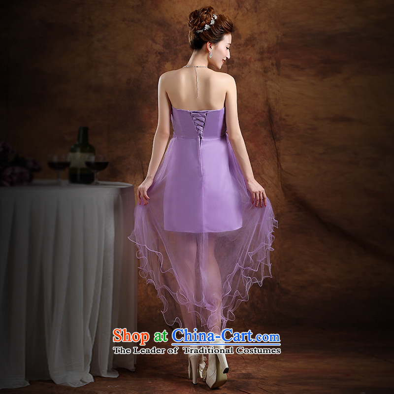 The Republika Srpska divas front stub bridesmaid service long after the summer 2015 new bride bridesmaid service wedding dress Top Loin of Sau San anointed chest sin gas purple bridesmaid serving evening dress with a light purple L), the Republika Srpska to the necklace earrings divas (pnessa) , , , shopping on the Internet