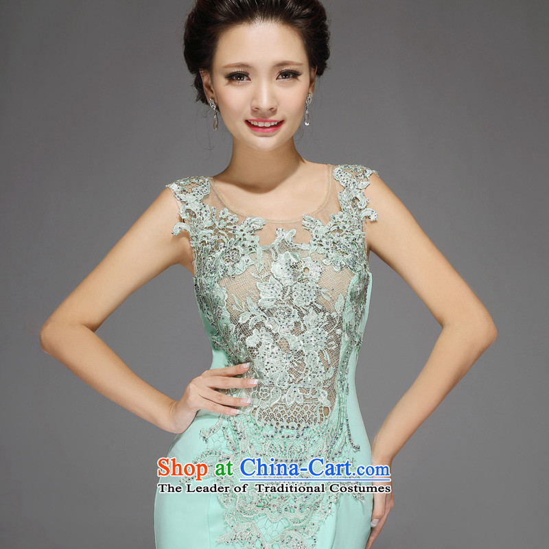 Pre-sale - American married arts wedding dresses 2015 new Korean shoulders with a crowsfoot 7541 Sau San diamond bridal dresses ice Green non-Edition�S