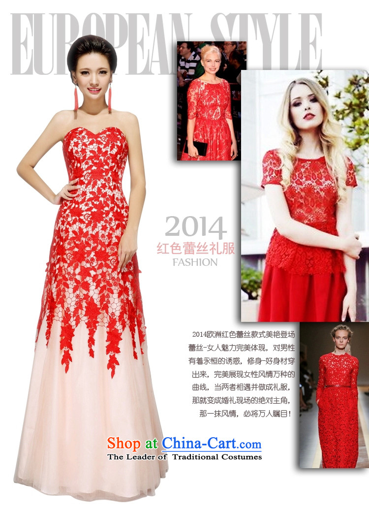 Kyrgyz-US married arts wedding dresses 2015 new Korean wiping the chest A swing lace No. 7657