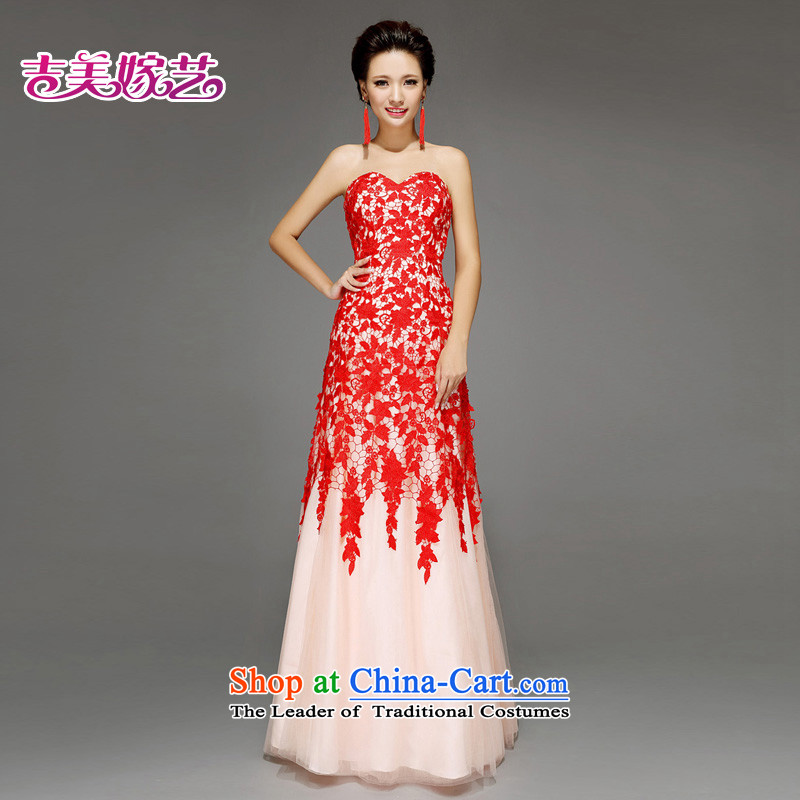 Kyrgyz-US married arts wedding dresses 2015 new Korean wiping the chest A swing lace No. 7657  An Act to align the bride dress RED M Kyrgyz-american married arts , , , shopping on the Internet