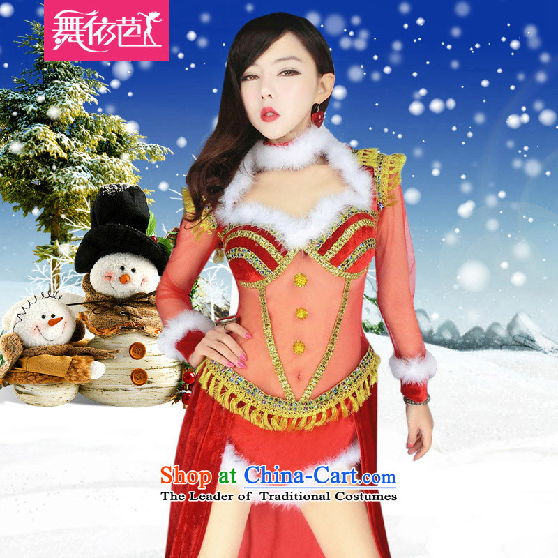 In accordance with the hip Christmas dance party night bar will show services ds sexy singer stage costumes clothing red�S�small code