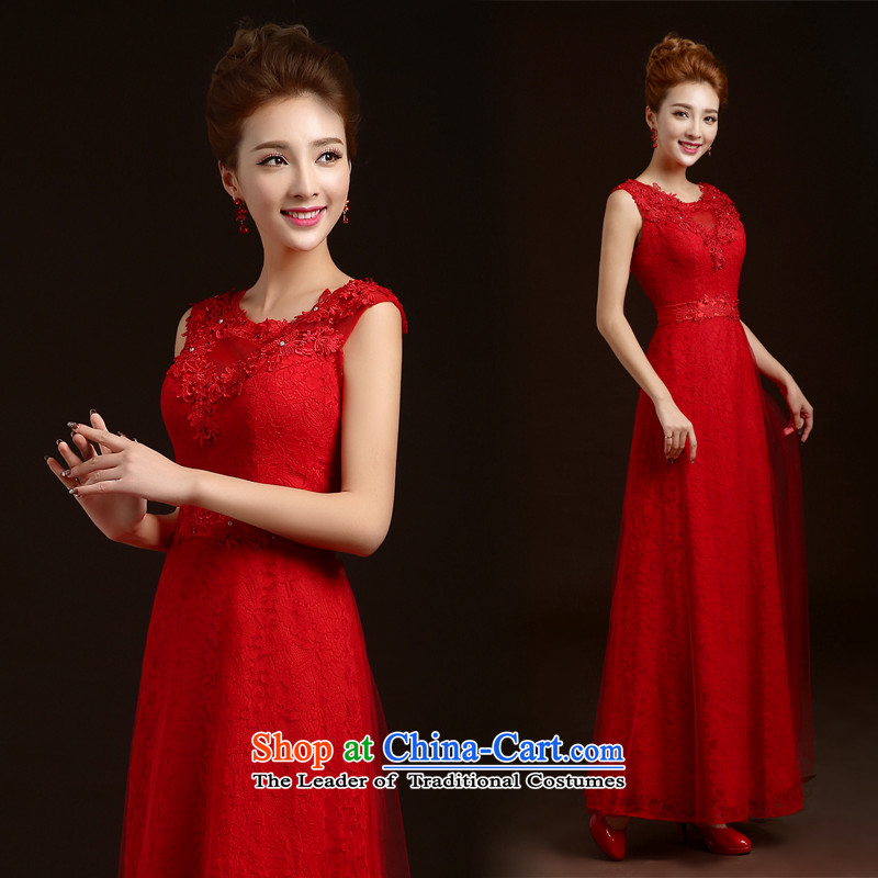 Wedding dresses new 2015 winter bride red bows to the annual meeting of the Sau San long evening dress banquet wedding dress small trailing wedding dresses tailored red