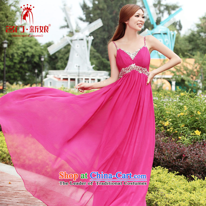A bride wedding dresses bows Service Bridal Fashion Korean long gown evening dress rose 280聽M