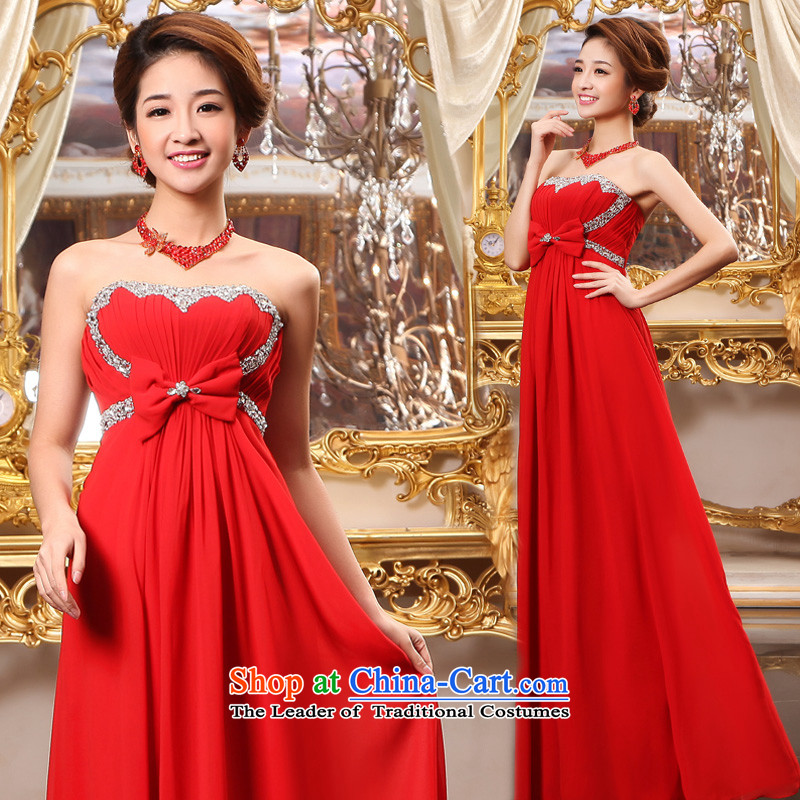 The privilege of serving-leung 2015 New Red Dress marriages pregnant women long wedding services for larger groups bows mm Red�3XL