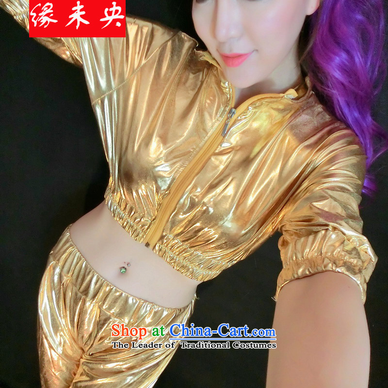 The leading edge of the YI I 2015 women costumes varnished leather kit jazz dance hip hop dance F4009C1320 Street are gold code