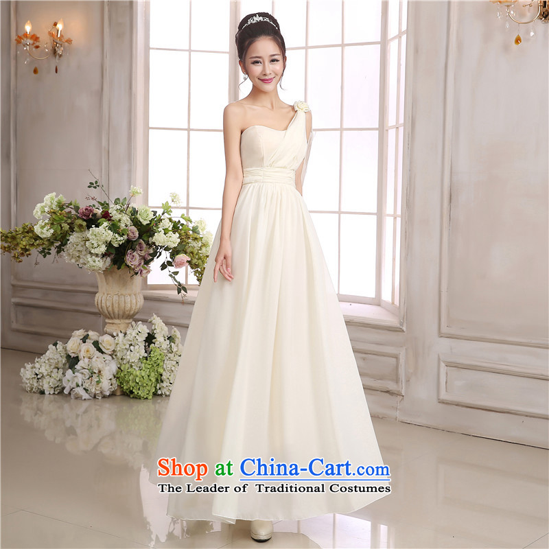 C.o.d. goddesses ultra-sin shoulder long skirt wedding dress bridesmaid sister mission chiffon dresses bows skirt under the auspices of the annual session of the small white dress code is
