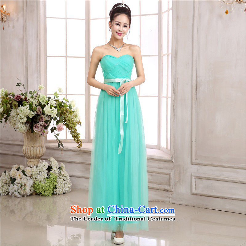 C.o.d. sweet goddess temperament long skirt sexy back and chest wedding dresses bridesmaid sisters small long skirt annual meeting chaired the skirt gauze skirt green dress Sau San are code
