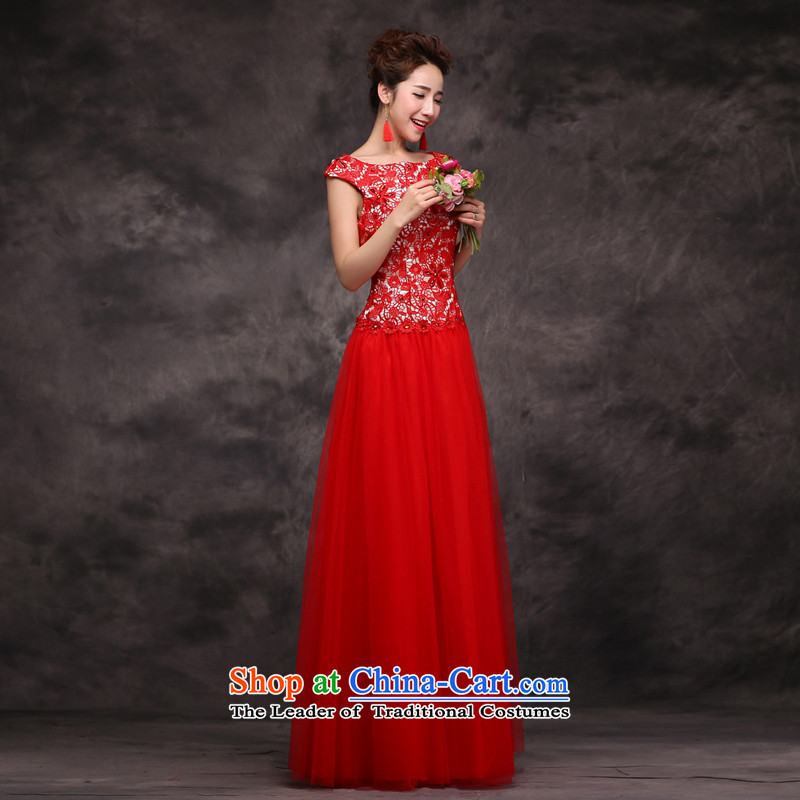 Jie mija bows Service Bridal Fashion 2014 new red marriage wedding dresses moderator evening dresses female long red?XXL Sau San
